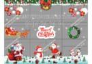 Trang trí Noel cửa kính giá rẻ tại Hà Nội